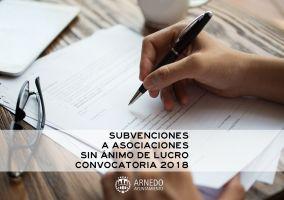 Ampliar información de Aprobadas las convocatorias de subvenciones para entidades sin ánimo de lucro 2018.