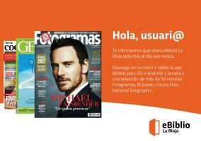 Ampliar información de Novedades de la plataforma eBiblio La Rioja