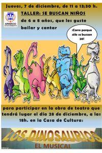 """Ampliar información de Taller  """"Los dinosaurios, el musical"""""""