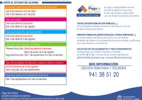 Ampliar información de Modificación en los plazos de pago de tasas e impuestos municipales