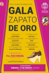 Ampliar información de Gala de la entrega del trofeo Zapato de Oro Ciudad de Arnedo Feria Taurina del 2019