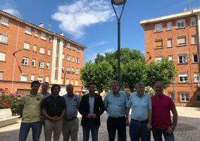 Ampliar información de Visita a las obras de remodelación del alumbrado del barrio de La Paz