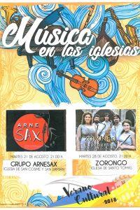 Ampliar información de Música en la iglesia de San Cosme y San Damián: Arnesax, Música de cámara para saxofón.