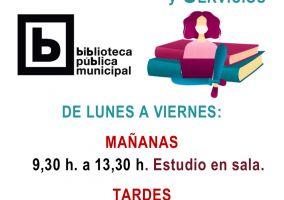 Ampliar información de La Biblioteca reanuda su horario habitual