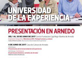 Ampliar información de Actividades de presentación en Arnedo de la Universidad de la Experiencia.