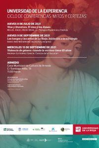 """Ampliar información de Ciclo de conferencias """"Mitos y certezas"""": Violencia de género: cuando la víctima tiene 65 años."""