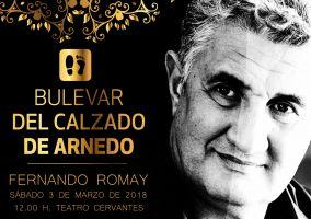 Ampliar información de Fernando Romay dejará su huella en el Bulevar del Calzado de Arnedo