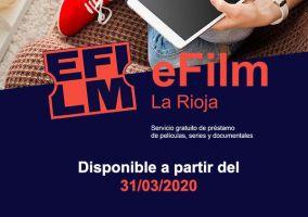 Ampliar información de eFilm La Rioja. Bibliotecas La Rioja. Préstamo de películas, cortometrajes, conciertos, series y documentales