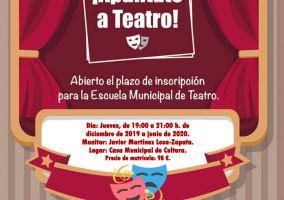 Ampliar información de Abierto el plazo de inscripción para la Escuela Municipal de Teatro