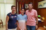 Ampliar información de El Alcalde recibe al joven estudiante Óscar Pascual Zapata, finalista de la Primavera Matemática.