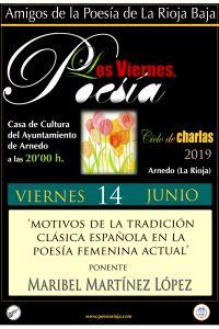 Ampliar información de Los viernes poesía: Motivos de la tradición clásica española en la poesía femenina actual.