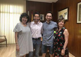 Ampliar información de El Alcalde recibe al alumno arnedano Juan Pérez Rubio, premio extraordinario de bachillerato.