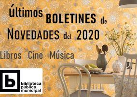 Ampliar información de Últimos boletines novedades 2020: libros, cine y música