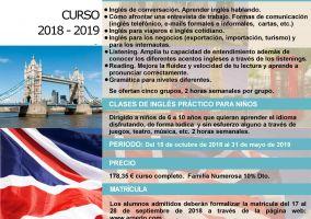Ampliar información de Oferta Academia Mpal. de Idiomas Curso 2018/2019