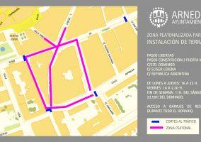 Ampliar información de Este viernes 22 de mayo comienza la peatonalización de la zona centro de la ciudad.