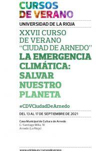 """Ampliar información de Cursos de Verano """"Ciudad de Arnedo"""". Conferencia: Conocer el clima para afrontar con éxito la emergencia climática."""