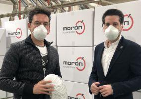 Ampliar información de Grupo Morón dona 5.000 mascarillas homologadas al Ayuntamiento de Arnedo.