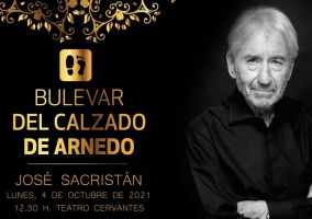 Ampliar información de El Bulevar del Calzado de Arnedo incorpora la huella de José Sacristán. También  recibe el premio Rafael Azcona en la 23 edición de Octubre Corto, festival de Arnedo en La Rioja