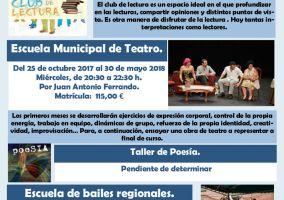 Ampliar información de Conoce los cursos de la Casa de Cultura - Biblioteca: Club de lectura y Escuela de teatro.