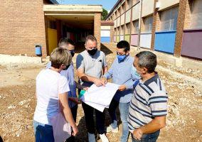 Ampliar información de Las obras de renovación integral de los patios del CEIP Antonio Delgado Calvete avanzan a buen ritmo.