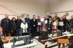 Ampliar información de El Alcalde participa en la entrega de diplomas del Curso de Guarnecido de Cáritas Parroquial de Arnedo