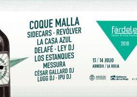Ampliar información de Coque Malla completa el cartel del escenario principal del Fárdelej 2018