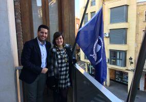 Ampliar información de Arnedo cuelga la bandera Scout en el Día del Fundador