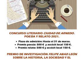 Ampliar información de Bases y Convocatoría Concurso Literario Ciudad de Arnedo: Poesía y Relato breve. 2021