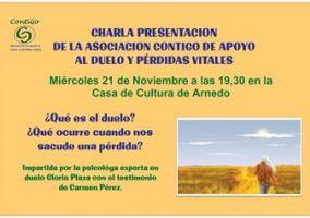 Ampliar información de Charla presentación de la Asociación Contigo de Apoyo al duelo y pérdidas vitales.