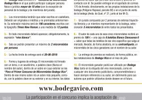 Ampliar información de Primer Concurso de Microrrelatos Bodega Vico.