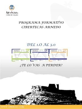 Folleto: Oferta formativa Cibertecas municipales de octubre a