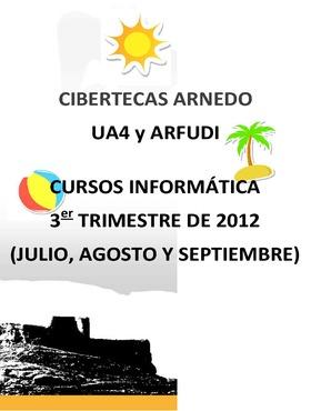 Folleto Cursos de Verano a desarrollar en las Cibertecas municipales.
