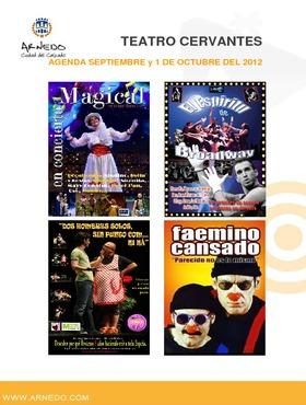 Programación Teatro Cervantes de septiembre y 1 de octubre del 2012