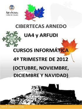 Oferta formativa de las Cibertecas munipales: 4º trimestre 2012.