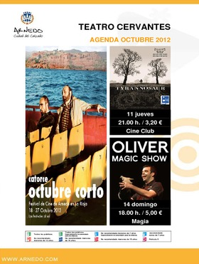 Programación Teatro Cervantes Octubre 2012