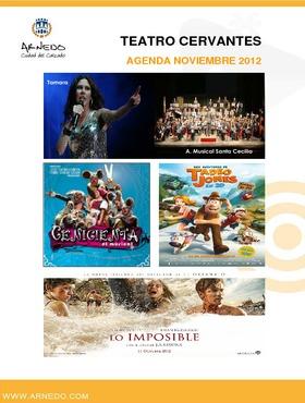 Programa Teatro Cervantes noviembre 2012