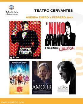 Programa Teatro Cervantes meses de enero y febrero del 2013.