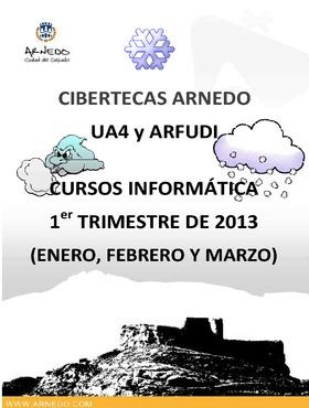 Folleto Oferta formativa de las Cibertecas municipales: enero-marzo 2013.