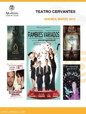 Programación Teatro Cervantes de marzo del 2013.