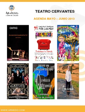 Programa Teatro Cervantes mayo-junio 2013.