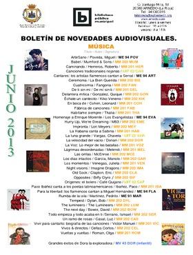 Novedades Biblioteca. Audiovisuales