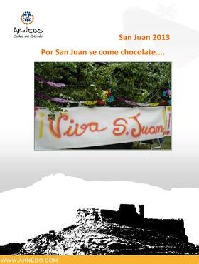 San Juan 2013: Programa de actos.