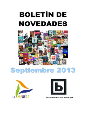 Novedades Biblioteca. Libros septiembre 2013