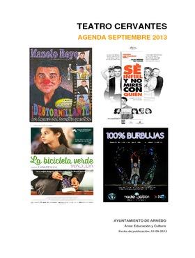 Programa Teatro Cervantes septiembre 2013