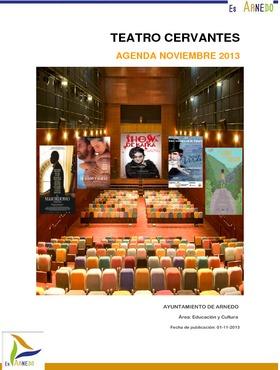 Programa Teatro Cervantes noviembre 2013