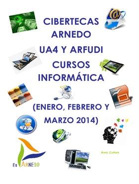 Cursos y talleres organizados en las Cibertecas: enero a marzo 2014.