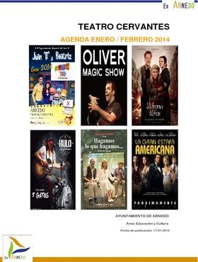 Programa Teatro Cervantes. Enero / Febrero 2014