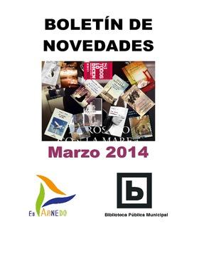 Novedades Biblioteca marzo 2014