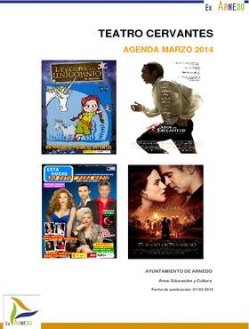 Programa Teatro Cervantes marzo 2014