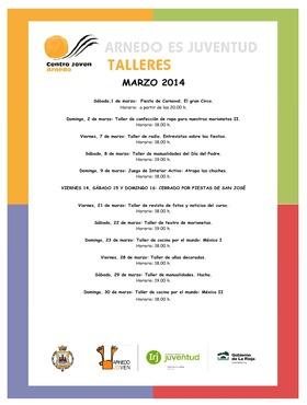 Talleres Centro Joven marzo 2014